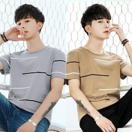 男士短袖t恤潮流2018新款夏季韩版纯棉卫衣半袖衣服套装长袖体恤
