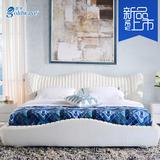 地中海床主卧床软床双人床简约现代布艺床