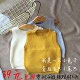 春款0-4岁全棉儿童毛衣背心马甲针织衫包邮