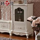 玻璃欧式酒柜实木隔断角柜厅柜简约装饰柜1