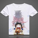 七龙珠 孙悟空 超级赛亚人 舒适短袖T恤衫