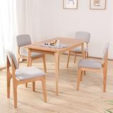 宜家实木餐椅软包奶茶店咖啡椅北欧洽谈椅子