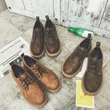 做旧大头鞋 休闲低帮皮鞋 工装靴 马丁靴