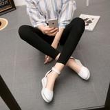 欧美夏季新款圆头坡跟包头时尚休闲高帮凉鞋