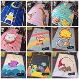 全棉绗缝垫子卡通儿童游戏垫防滑爬行地垫毯