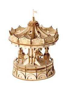 若态木质diy儿童立体拼图智力玩具手工模型创意桌面摆件礼物女孩