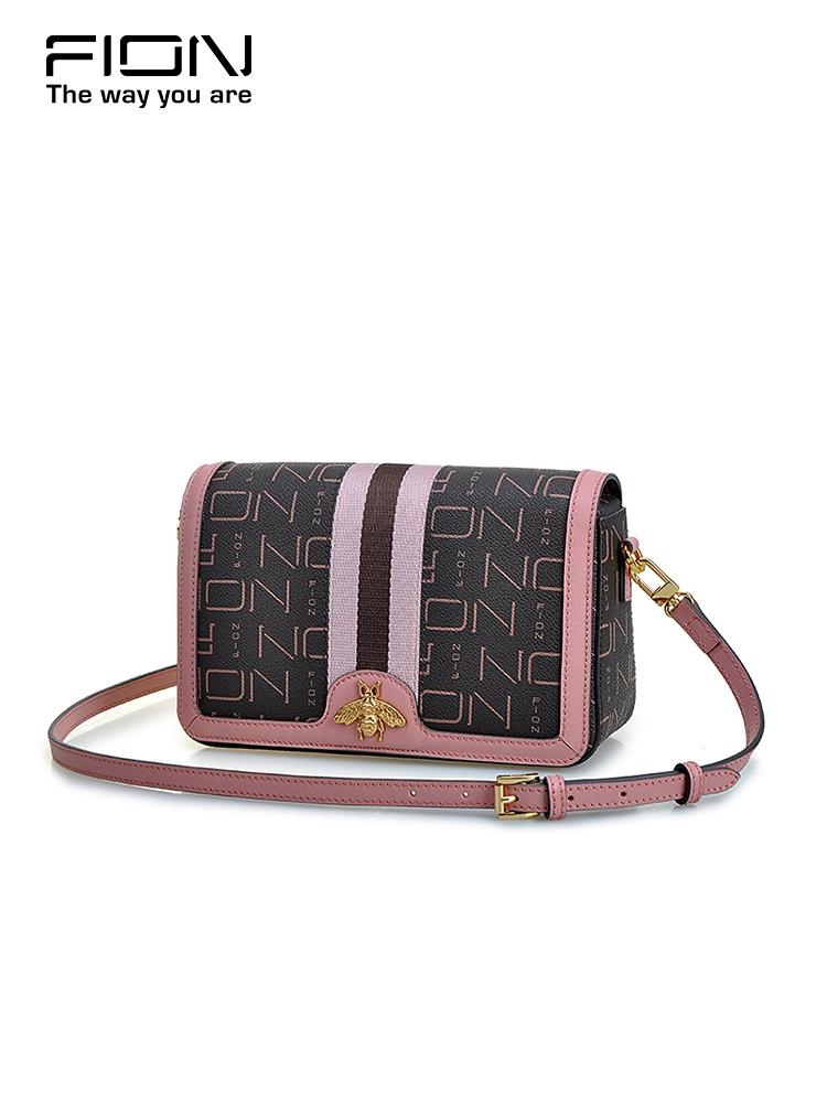 Fion-菲安妮2018新款小方包 女士单肩斜挎包 时尚品牌夏天小包包