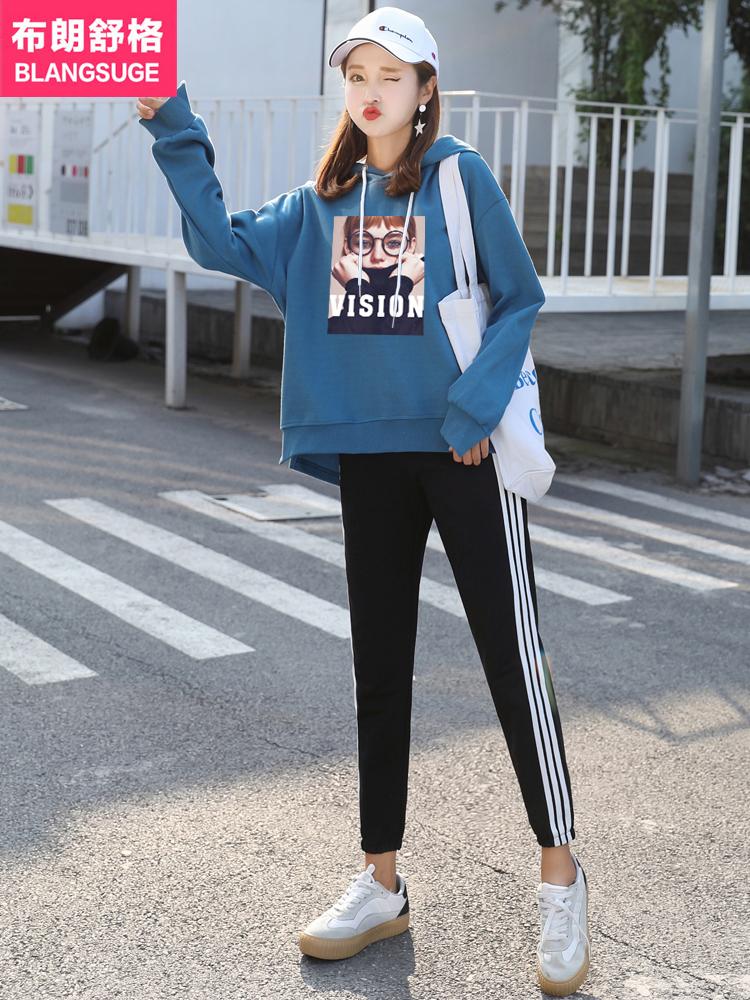早秋装女2018新款运动套装韩版时尚学生初冬卫衣两件套原宿风女神