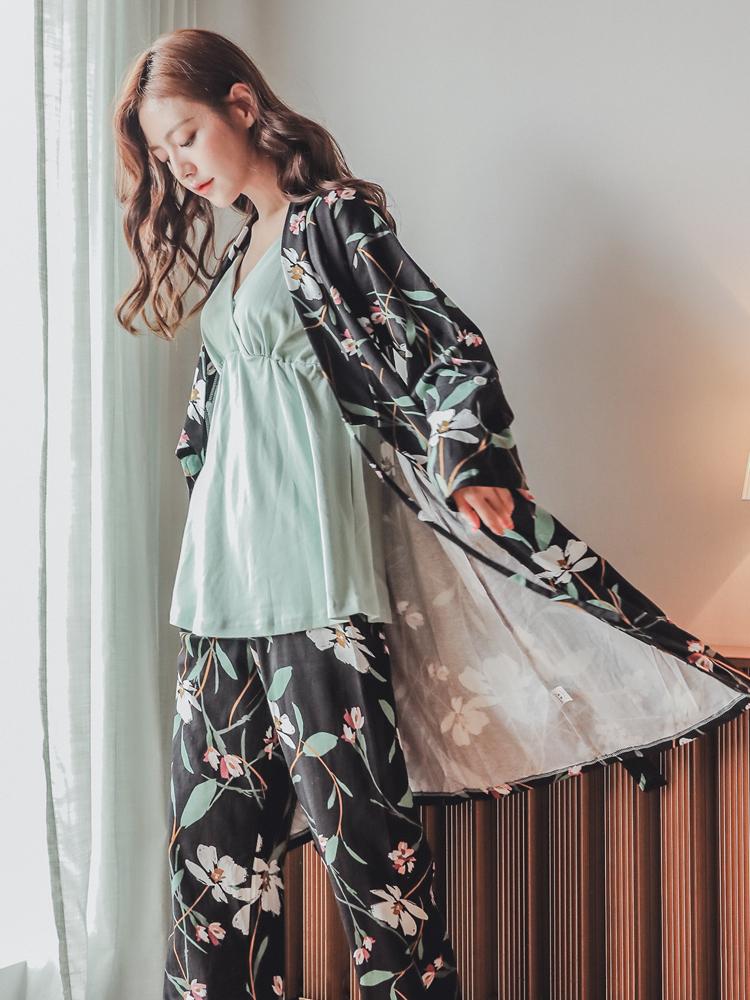 月子服春秋季纯棉产后孕妇家居服哺乳衣时尚外出秋冬三件套装睡衣