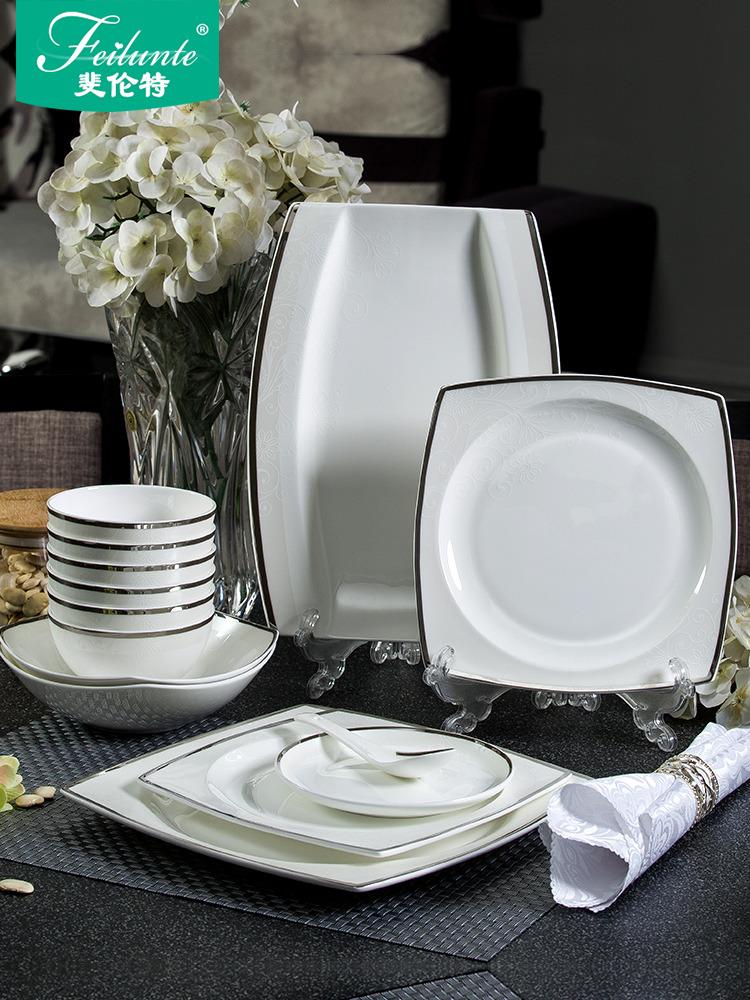 碗 家用 吃饭景德镇餐具套装欧式陶瓷碗组合骨瓷碗盘碗筷盘子碗碟