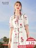 阔色2018夏装新款韩版女装学生温柔裙超仙气质连衣裙