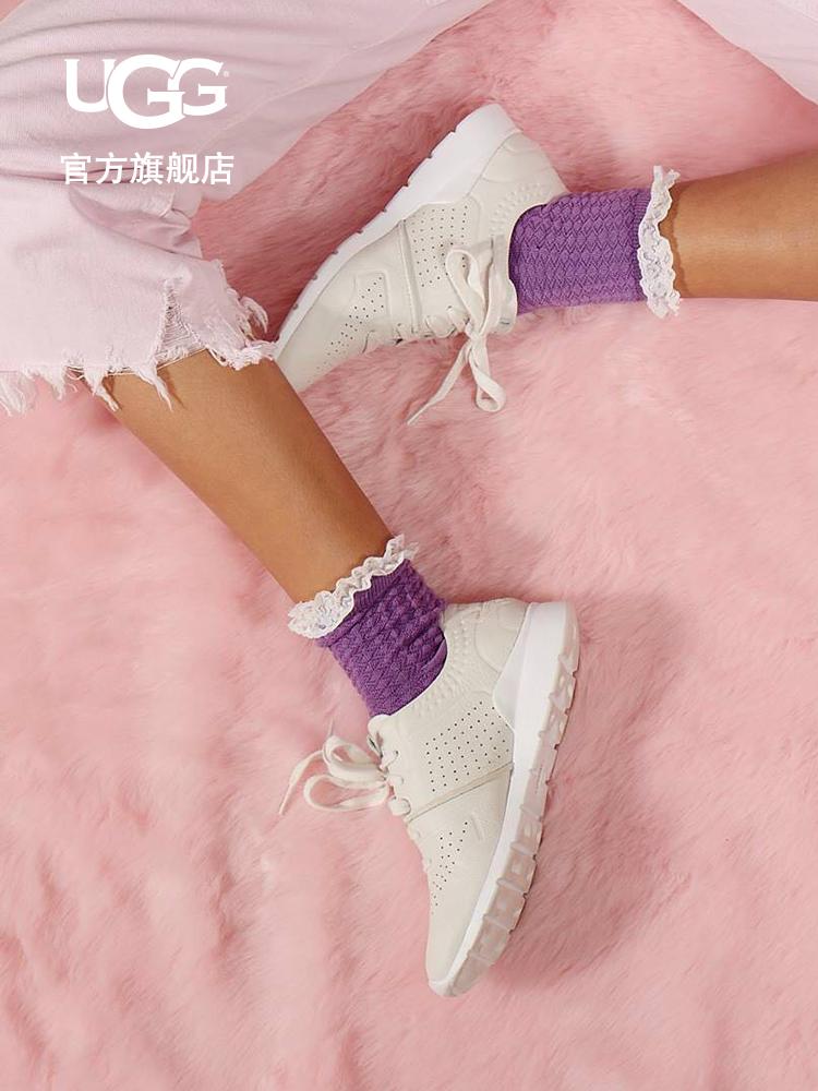 UGG2018新款女士平底运动休闲舒适单鞋小白鞋 1092577
