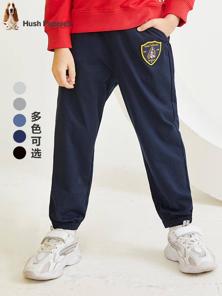 Hush Puppies 暇步士 纯棉 中大男童运动裤 聚划算双重优惠折后¥88包邮 105~170码多色可选