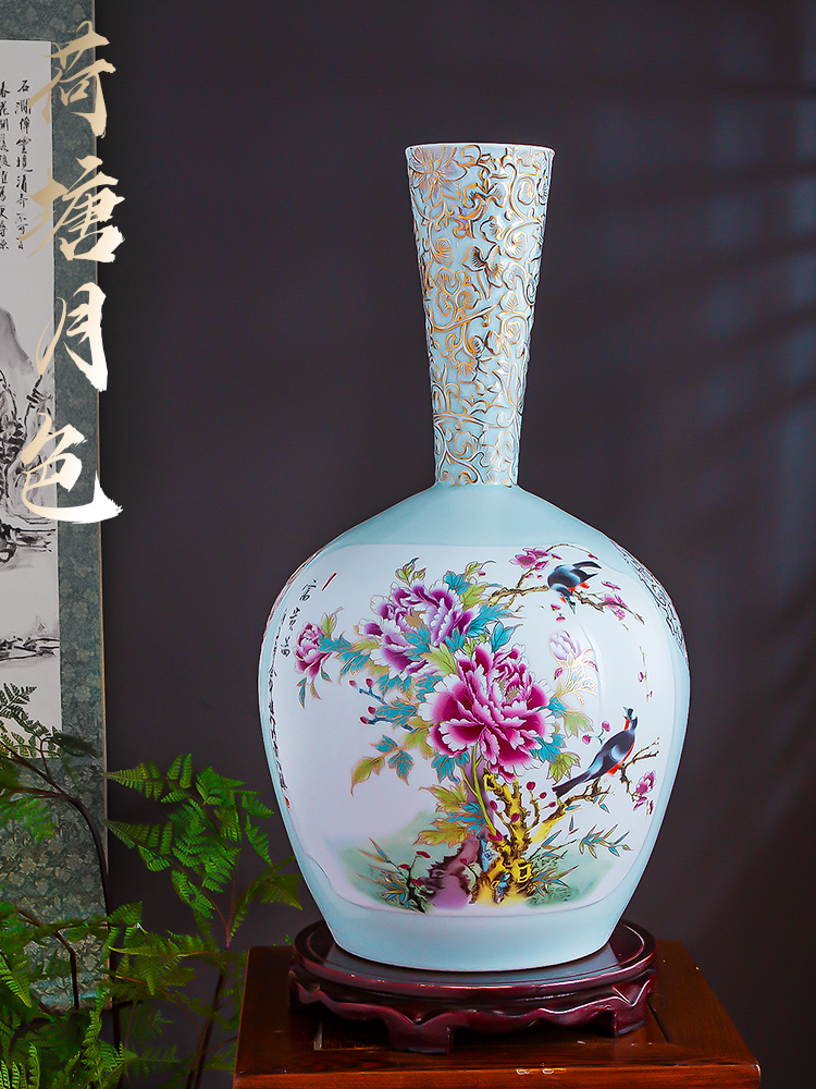 The Master of jingdezhen chinaware paint powder enamel vase furnishing articles of Chinese style home decoration sitting room porch flower arrangement