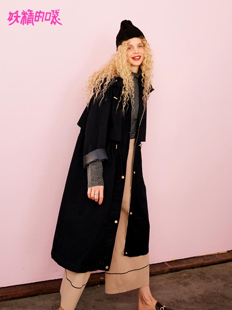 风衣新款女秋季2018收腰经典长袖大衣复古酷通勤韩版长款外套女F