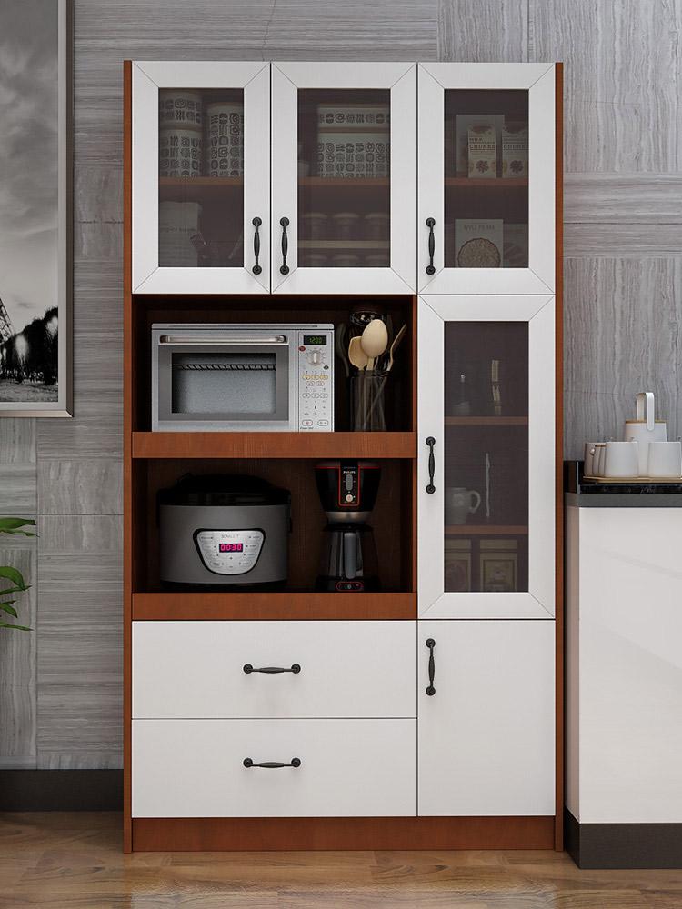 定制餐边柜北欧茶水柜家用微波炉柜厨房橱柜简约现代储物柜置物柜
