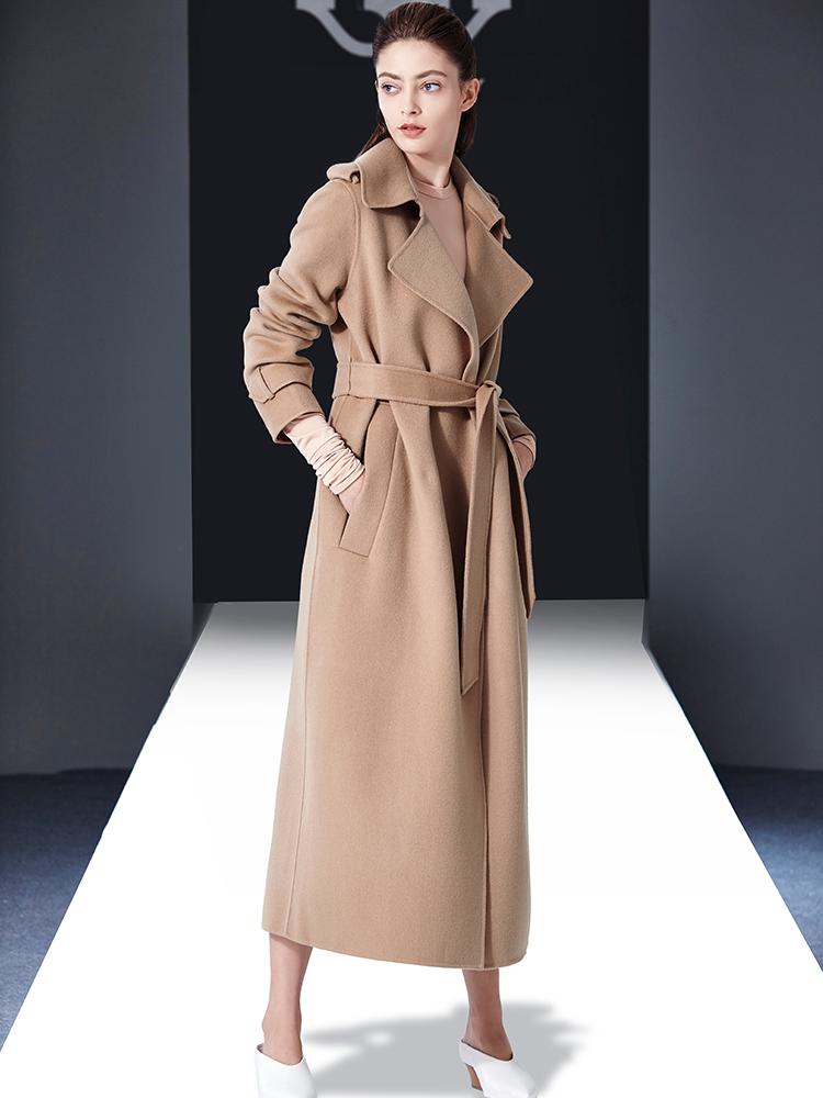 双面羊绒大衣女中长款2018秋冬季新款赫本风呢子过膝反季毛呢外套