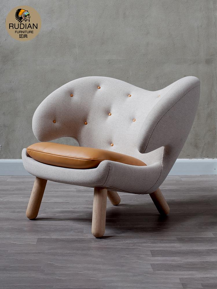 如典北欧休闲椅鹈鹕椅子电脑椅时尚办公椅创意家具个性休闲椅沙发