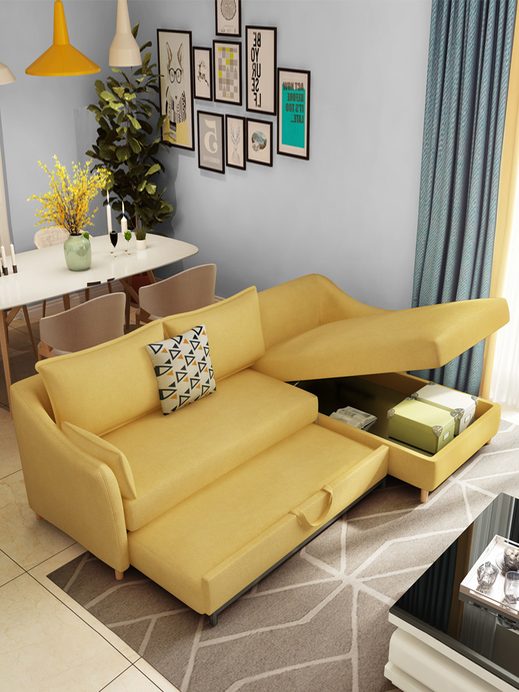 多功能沙发床可折叠客厅小户型双人推拉两用组合简约现代可变床