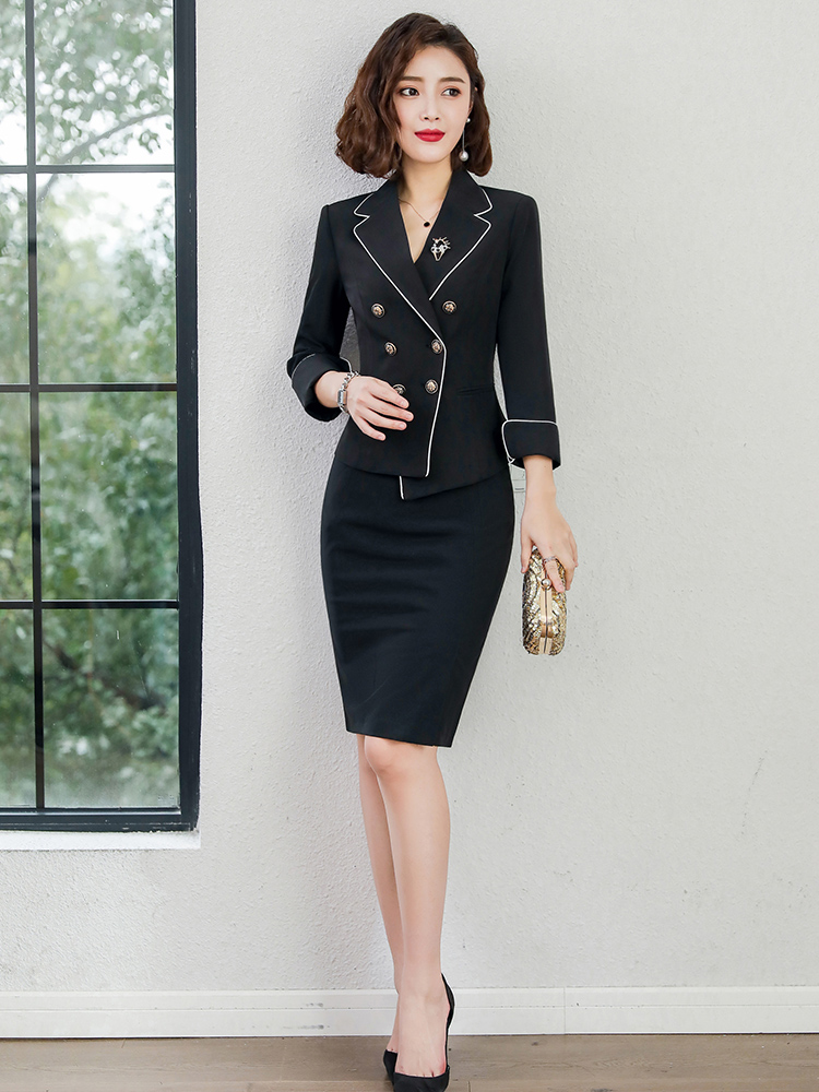 f049751ee00 J-ME professional wear female 2019 New spring and summer ol suit fashion  tooling interview