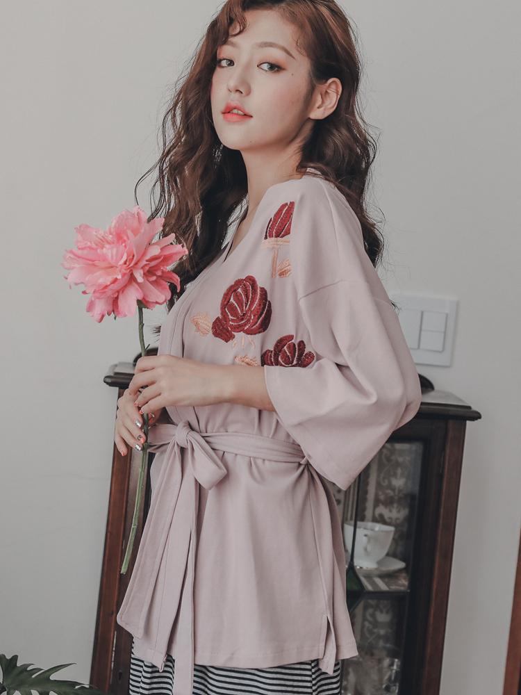 月子服长袖哺乳睡裙产后喂奶外出时尚两件套装连衣裙春秋季家居服