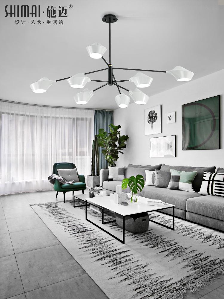 灯具客厅简约现代吊灯 大气家用餐厅创意个性北欧卧室灯造型灯饰