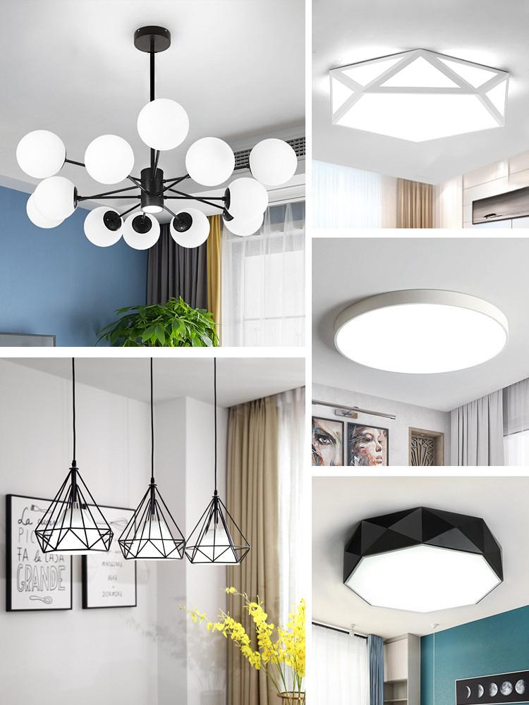 北欧风格全屋灯具套餐组合简约现代客厅大气家用三室两厅吊灯套装