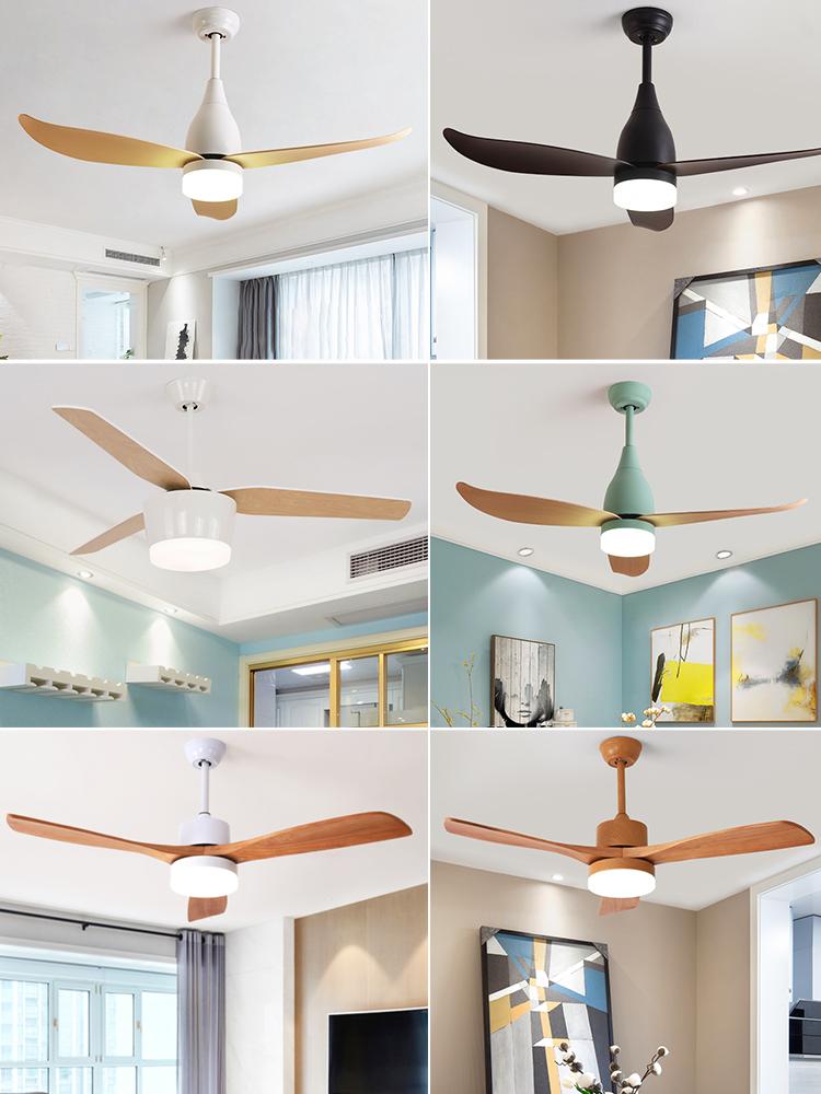 北欧风扇吊灯简约现代餐吊灯美式家用大气客厅饭厅卧室LED吊扇灯