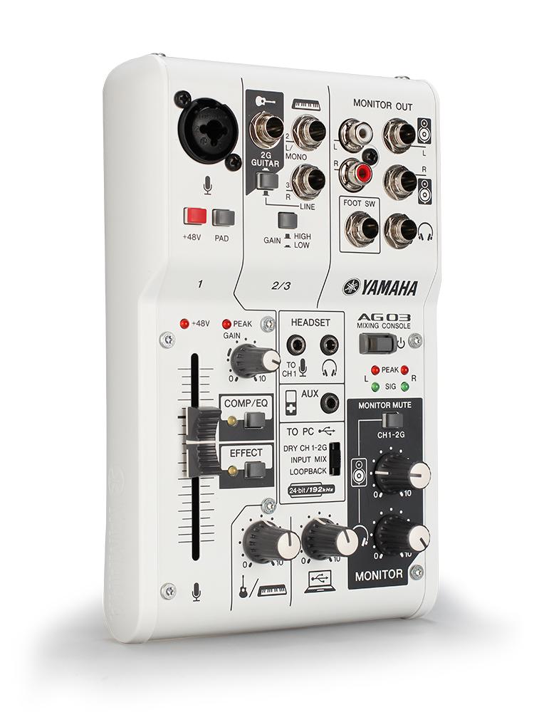 Yamaha-雅马哈 AG03 AG06台式机电脑手机直播录音直播K歌快手全民k歌主播外置声卡套装调音台麦克风设备全套