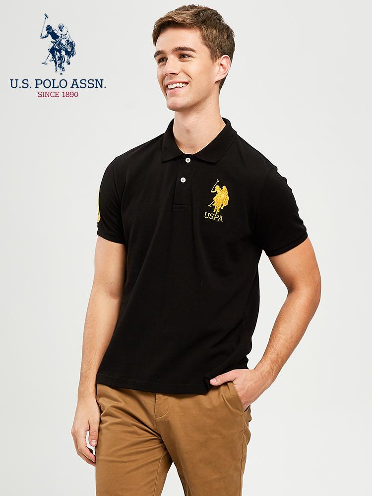U.S. Polo Assn. 美国马球协会 纯棉 男式POLO衫 天猫优惠券折后¥99包邮(¥169-70)多色可选