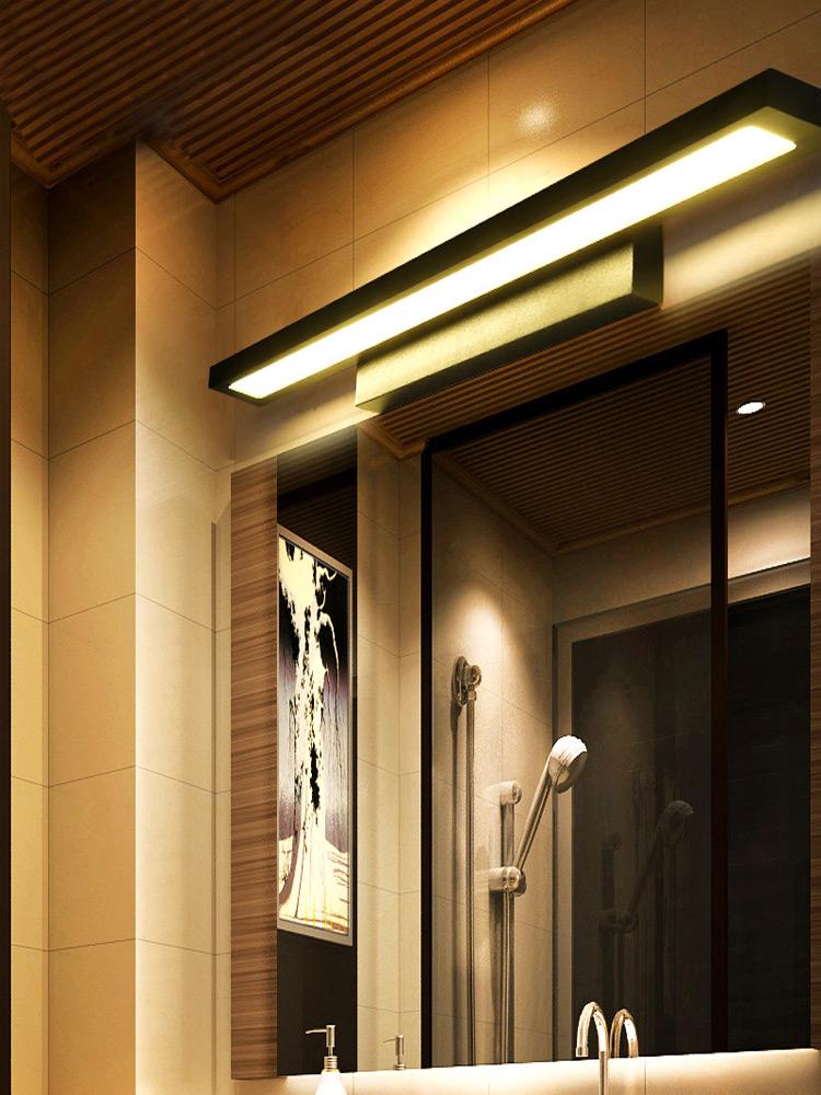 北欧浴室镜前灯led卫生间镜灯现代简约梳妆灯具洗手间防水墙壁灯