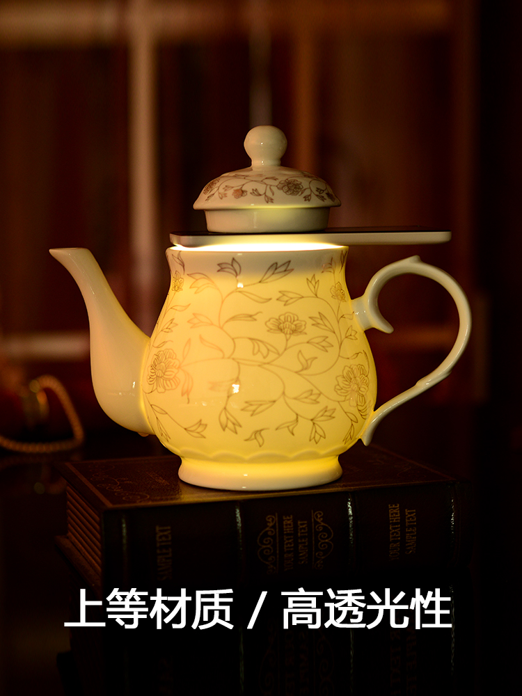 Jingdezhen porcelain ceramic teapot high - capacity porcelain porcelain ceramic teapot large single pot pot set teapot household
