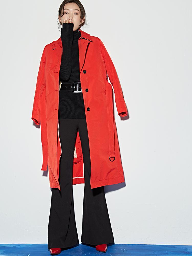 百思寒2017新款羽绒服两件套轻薄风衣女中长款鹅绒服大衣反季清仓