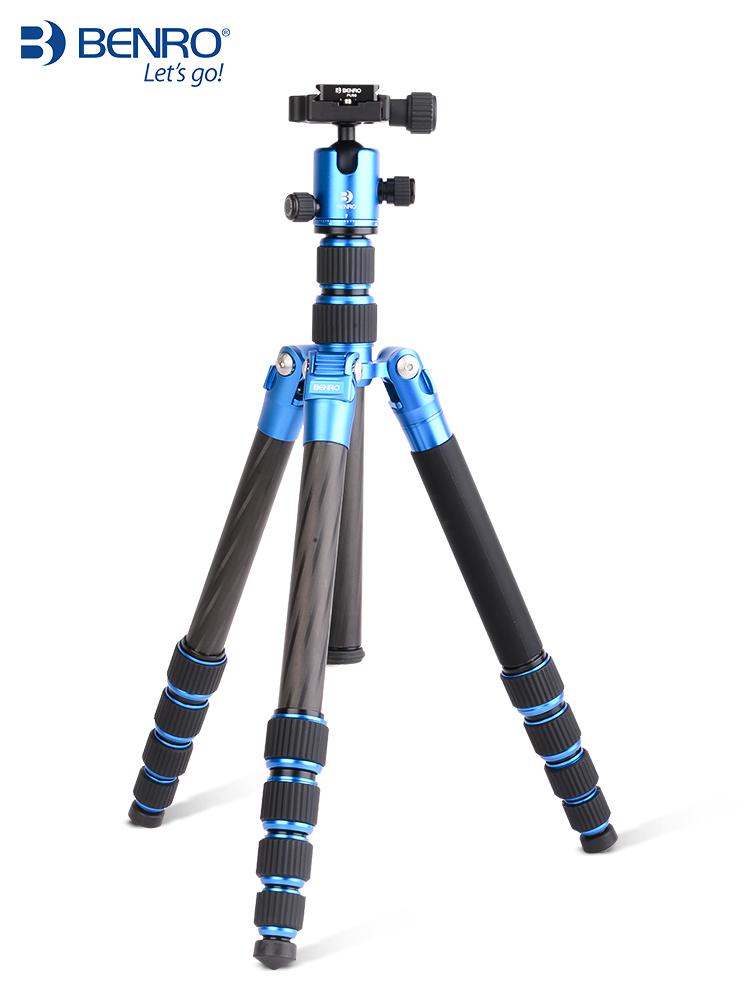 百诺新品MC19碳纤维单反三脚架佳能尼康相机摄影三角支架云台套装