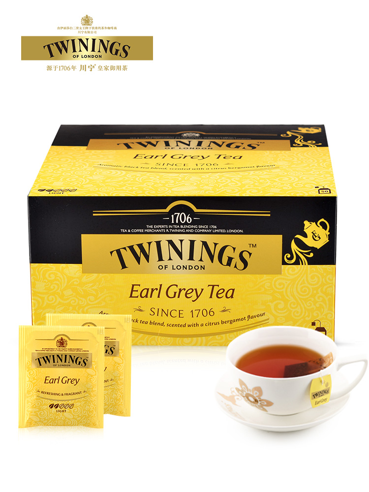 英国皇室御用,Twinings 川宁 豪门伯爵红茶50袋100g