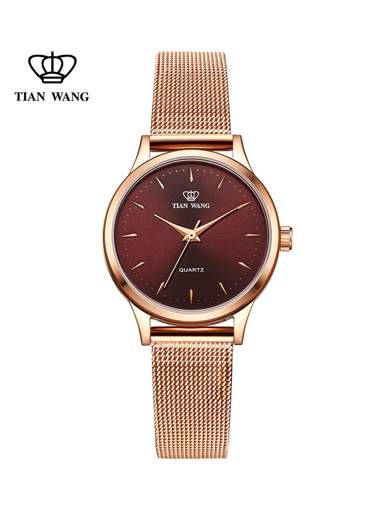 天王表手表女时尚潮流简约细带防水石英表2018新品3998