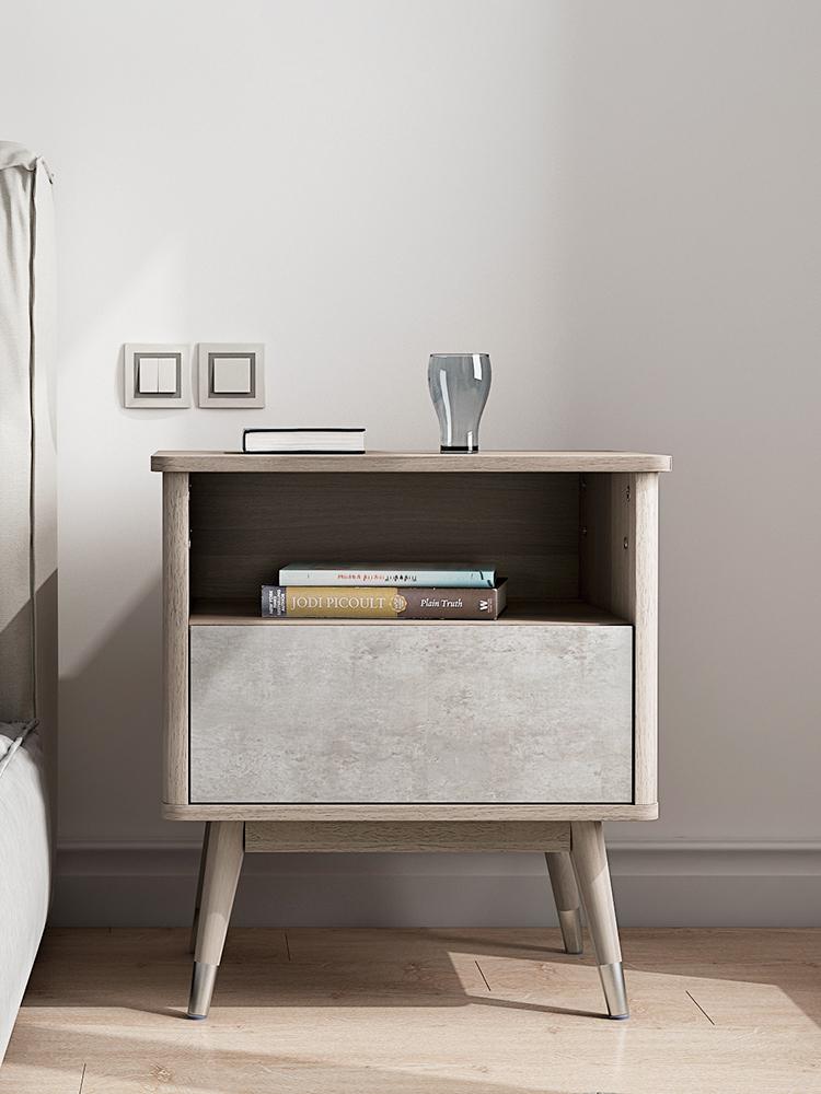 千语 北欧床头柜 现代简约卧室家具储物柜抽屉收纳柜时尚床边柜
