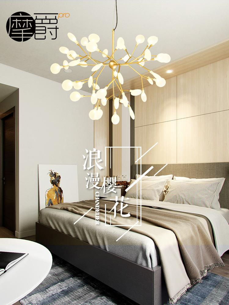 北欧萤火虫树枝风格艺术后现代简约灯具客厅创意个性餐厅卧室吊灯
