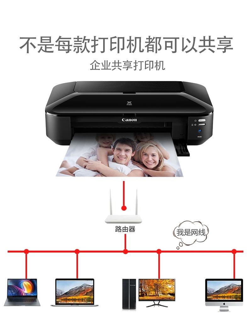 Canon佳能IX6880喷墨高速打印机a3a4彩色黑白相片文档手机无线wifi家用学生商用办公连供洗照片机器6780 6580