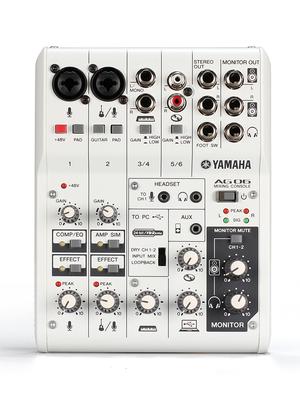 Yamaha-雅马哈 AG06台式机电脑手机直播录音直播K歌快手全民k歌主播外置声卡套装调音台麦克风设备全套