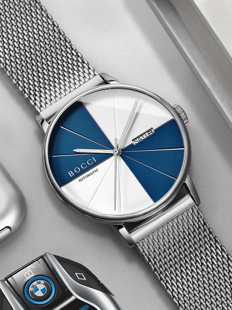 宝驰正品男士手表机械表全自动防水精钢个性潮流时尚休闲手表男