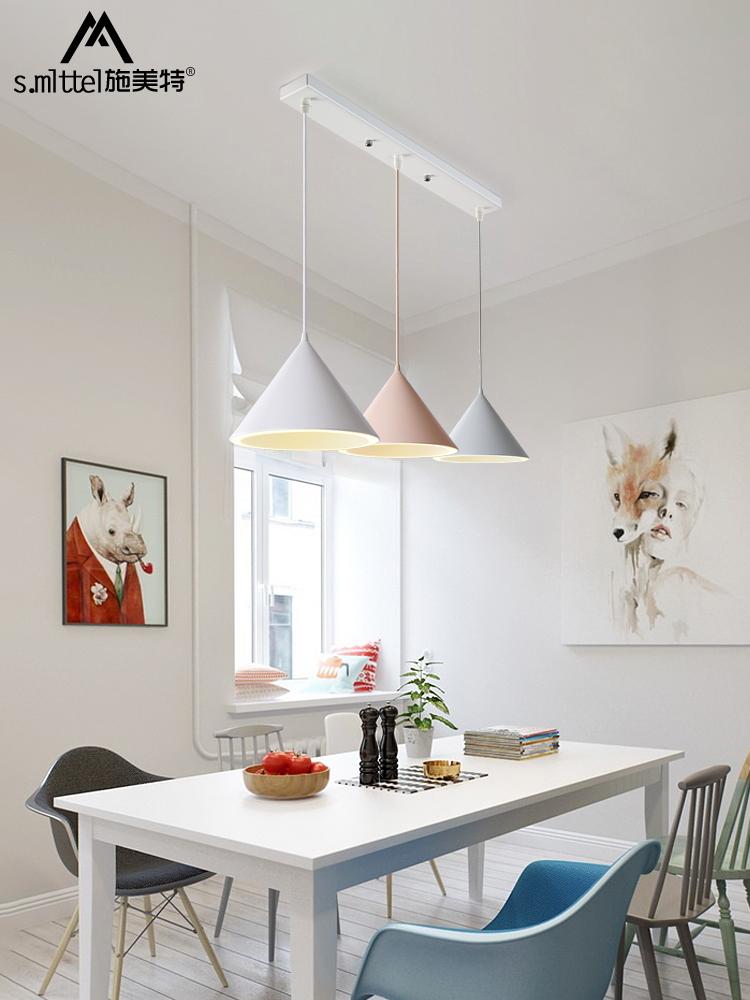 北欧灯具餐厅吊灯现代简约个性创意吧台吊灯咖啡厅马卡龙餐吊灯