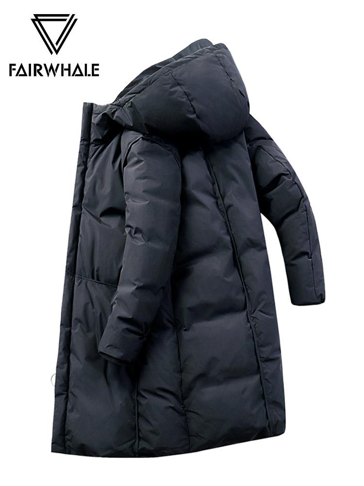 马克华菲羽绒服男中长款2018冬季新款反季韩版加厚连帽保外套潮