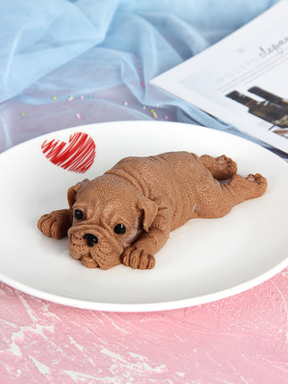 3D Cake Mould dog mousse mold small dirty dog ice cream silicone cake 4 inch 6 inch baking