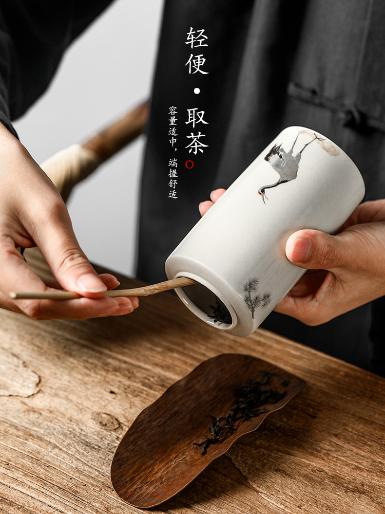 Portable tea pot jingdezhen ceramic products of high - grade hand - made silver store receives the crane, kung fu tea accessories