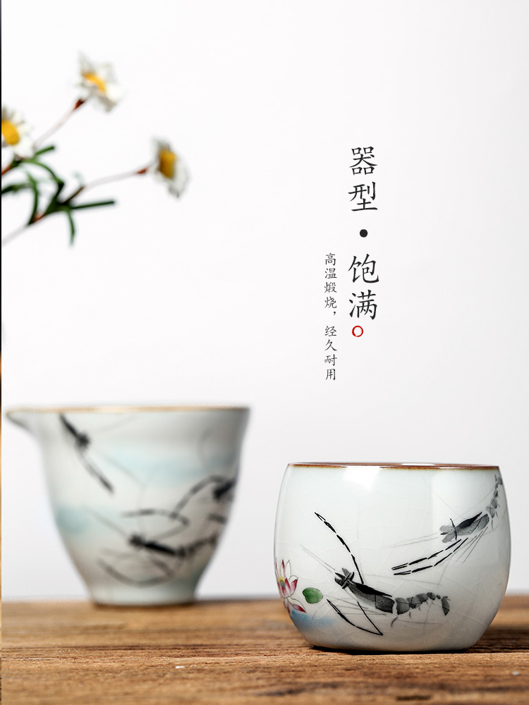 Master your up sample tea cup cup single cup pure manual jingdezhen ceramic tea set prawn hand - made kung fu large cups