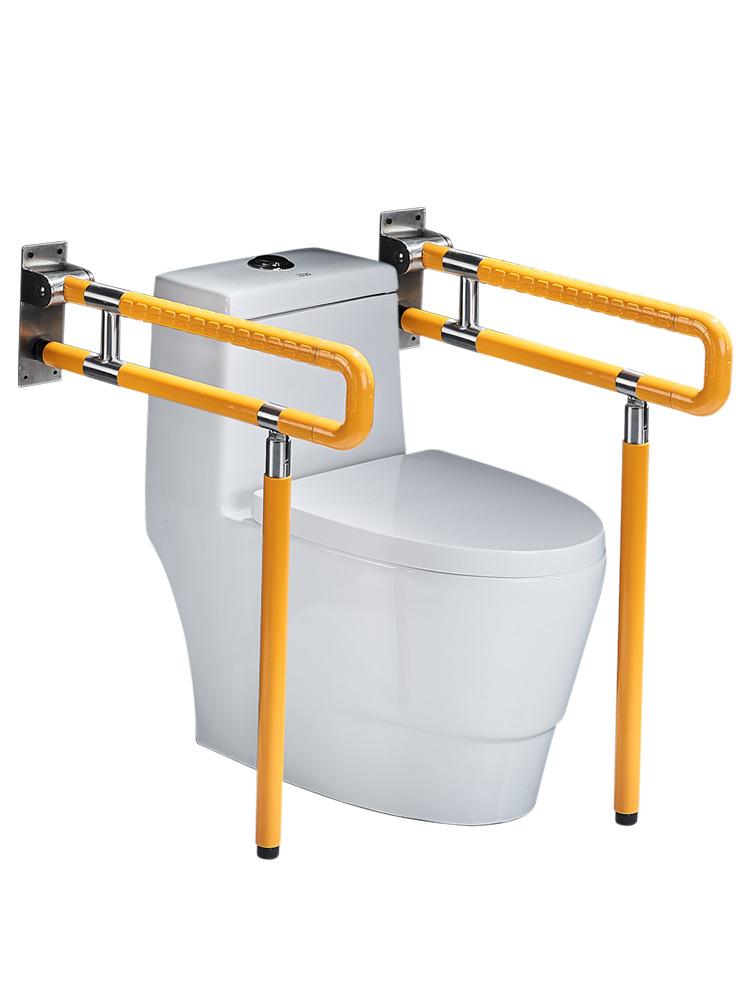 老人安全厕所浴室坐便起身器无障碍马桶折叠扶手栏杆卫生间残疾人