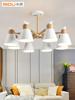 米度北欧风格原木吊灯大气小鹿客厅灯现代简约卧室书房LED灯饰