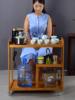 移动茶车竹制茶水柜收纳架茶台茶盘排水式简约现代客厅家用泡茶桌