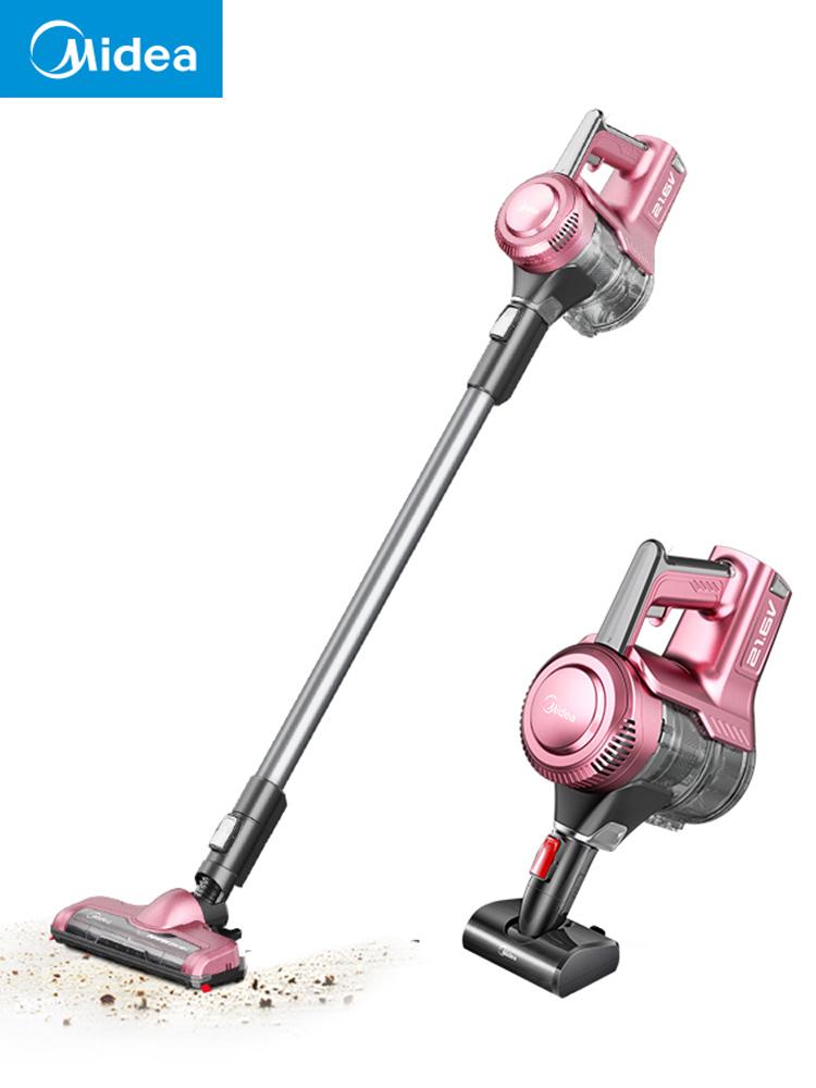 美的无线吸尘器家用强力大功率小型手持式吸尘器宠物毛发P3-Lady